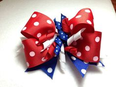 Fourth of July Hair Bow by lindajohnson1977 on Etsy, $5.00