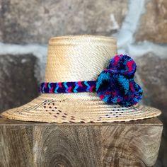 fe100856 M NATURAL STAR POM POM Hat #strawhat #summerhat #fashionhat #irakahat  #pompomhat