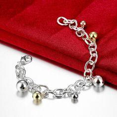 Посеребренные украшения мода женский любимый подарок на день рождения высокое качество многоцветный сферические подвеска браслеты SZ3154