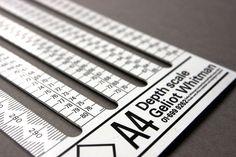A4 Depth Scale Ruler