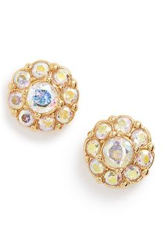 Free shipping and returns on kate spade new york crystal flower stud earrings at Nordstrom.com. Crystals shimmer and flash on stud earrings finished in gleaming 14-karat gold plate.