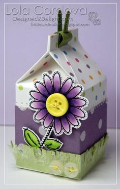 Single Flower Milk Carton