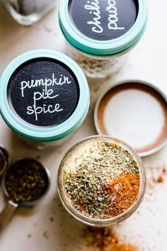 3 Must Have Homemade Spice Recipes including homemade taco seasoning, chili powder and pumpkin pie spice. Homemade Spices, Homemade Taco Seasoning, Seasoning Mixes, Real Homemade, Alcohol Recipes, Real Food Recipes, Cooking Recipes, Drink Recipes, Cooking Tips
