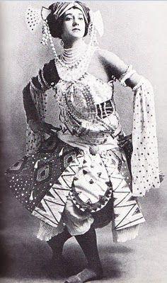 Leon Bakst design foTamara Karsavina in 'Le Dieu Bleu' (1912)
