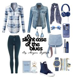 """""""Rêves denim"""" by morgan-defstyle on Polyvore featuring Topshop, LE3NO, Steve Madden, Dr. Martens, Iphoria, Mixit, Marc Jacobs, Clinique and Issey Miyake"""