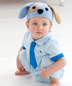 Puppy Dog Hat Free Crochet Pattern from Red Heart Yarns