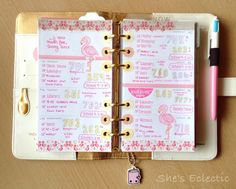 She's Eclectic: My week #30 Flamingo love and Lorabailora washi and stamps