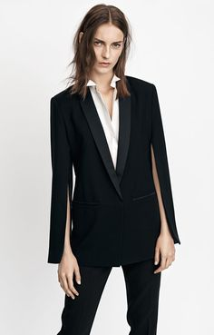 SUIT UP: Who said you need to wear a dress or skirt to a wedding? If you are looking for a nontraditional look then a tailored suit is the way to go. Take a cue from H&M's Conscious line with square shoulders, slim-fit pants and a button-up top. Go for a brogue shoe for a masculine look or pump for feminine style.