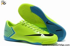 Wholesale Cheap Fluorescent yellow black Nike Mercurial Vapor X IC Boots Store