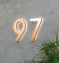 Illuminated house numbers
