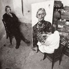 Lupineke:♥ Charley Toorop schildert een Westkappelse man Berlin, Painters Studio, Photo Reference, Coming Home, Old Pictures, Artist At Work, Art Nouveau, Black And White, Artist Studios