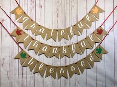 Grateful Thankful Blessed Banner, Fall Decorations, Fall Home Decor, Thanksgiving Decorations, Rusti Thanksgiving Mantle, Thanksgiving Decorations, Fall Decorations, 1st Birthday Banners, Birthday Decorations, Fall Home Decor, Autumn Home, Thankful And Blessed, Grateful