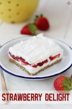 Fresh strawberries, cream cheese, and a shortbread crust make this dessert one to remember!