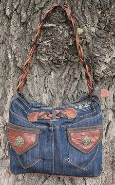 Женские сумки ручной работы. Ярмарка Мастеров - ручная работа. Купить Джинсовая реинкарнация..... сумка из джинсов. Handmade. Синий, джинса