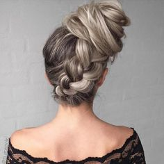 Braid Into Side Bun Updo #BunHairstylesSide