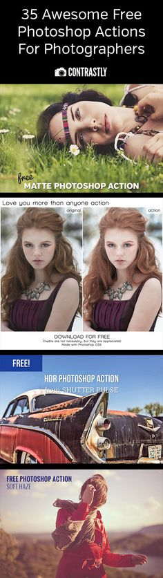 35 Awesome Free Photoshop Actions For Photographers. Because free is the magic word when it comes to Photoshop. Photography Lessons, Photography For Beginners, Photoshop Photography, Photography Tutorials, Photography Photos, Photography Business, Photoshop Actions For Photographers, Photoshop Help, Effects Photoshop