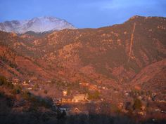 Sunlight over Manitou Springs. 3/29/13  #ManitouSprings