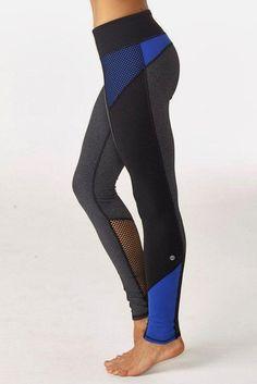 Fitness Outfits : Illustration Description gwen colorblock legging royal blue -Read More – Sport Outfit, Sport Wear, Workout Attire, Workout Wear, Workout Style, Workout Outfits, Workout Tanks, Sports Leggings, Workout Leggings