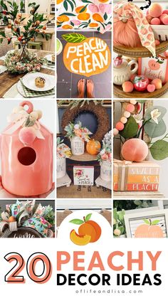 Peach decor and decorations can be the perfect addition to your Spring and Summer home decor. Check out these lovely peach decor items to be inspired. #peach #peaches #peachdecor #peachdecorations #homedecor #homedecorations #seasonaldecor #tieredtrays #spring #summer #springdecor #summerdecor #farmhousedecor #rusticdecor Home Decor Trends, Home Decor Items, Home Decor Inspiration, Diy Home Decor, Small House Decorating, Decorating On A Budget, Peach Decor, Kitchen Island Decor, Spring Home Decor
