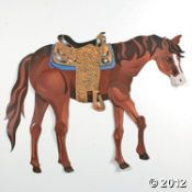 Make your western theme party room extra special with this beautiful Large Brown Horse Jointed Cutout. A fun addition to your party supplies, this posable . Horse Birthday Parties, Cowboy Birthday Party, Birthday Ideas, Birthday Games, 21st Birthday, Cowboy Theme Party, Horse Party, Wild West Theme, Pony Games