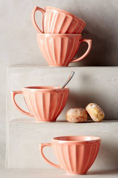 Love these latte mugs! This peach color would be perfect for @amandalynn :D :D :D