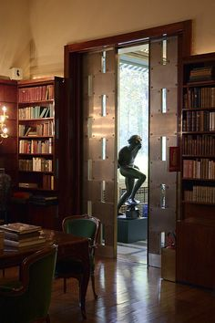 Villa Necchi Campiglio by Piero Portaluppi. The pieced-steel doors are amazing