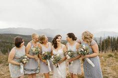 Gray Bridesmaid Dresses - Colorado Wedding - Colorado Mine Inspired Wedding in Breckenridge Colorado | COUTUREcolorado WEDDING: colorado wedding blog - http://www.couturecolorado.com/wedding/2015/01/21/colorado-mine-inspired/