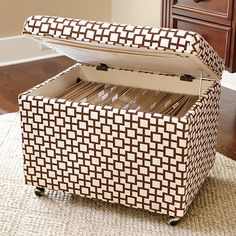 File Storage Ottoman, over 130 patterns to choose from