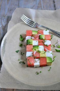 veganfeast:    Use vegan cheese!  beautifulpicturesofhealthyfood:    Summer watermelon salad…RECIPE