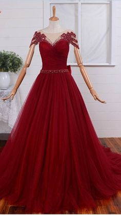 The woman in the sexy red dress gown