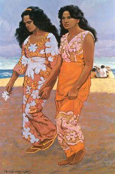 Two Sisters, painting by Herb Kawainui Kāne.