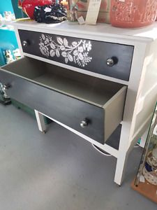 nice inspo for repainting your dresser!