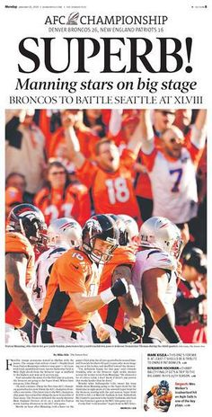 Peyton Manning is one of the best athletes i have watched play this great sport!