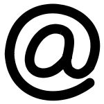 Email - The at sign, a part of every SMTP email address. American programmer, Raymond Tomlinson, added it to the address of the first e-mail message to be sent from one computer to another.