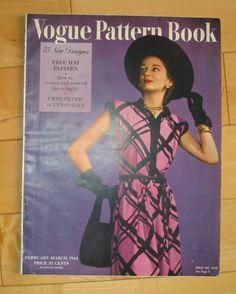 Vogue Pattern Book, Feb-March-1945 featuring Vogue 5343