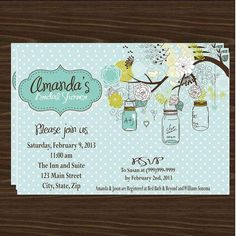 jar baby shower invitations | Found on shopsweetums.com
