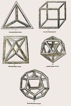 Ao cortar o cubo em um pedaço que contenha as três dimensões, retiraremos o Tetraedro, uma ponta, mas fica no cubo uma face que agora é um triângulo eqüilátero. O triângulo é a representação simbólica de Deus. Seus pontos estão em harmonia, equilíbrio, não têm tensão. A distância é a mesma entre qualquer de seus pontos.