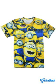 Minions Tee - Shop our entire collection of all-over-print apparel! www.getonfleek.com