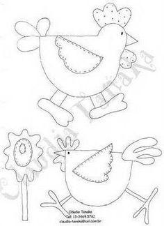 desenhos de galinha para pach aplique - Pesquisa Google