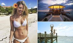 Saturdays singer Mollie King jumps for joy in Jamaica
