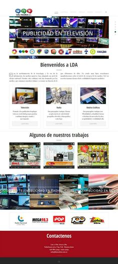 Lda - Medios Publicidad en Medios Desarrollo web para Estudio TALL