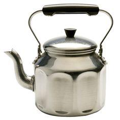 Aluminum Tea Kettle // Love the side patterns