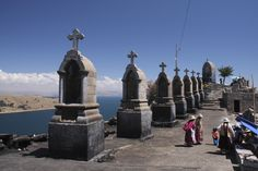March 27th - Copacabana, Bolivia   * The 400 year old Moorish-style basilica housing the Shrine of the Dark Virgin of the the Lake makes Copacabana, on the shores of Lake Titicaca, an important pilgrimage site.  Throngs arrive during Holy Week after walking days from La Paz.