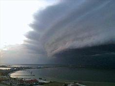 Hurricane Irene making landfall.