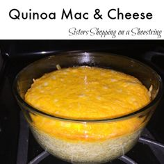 Try out this Quinoa Mac & Cheese for a healthier way to eat Macaroni & Cheese for dinner