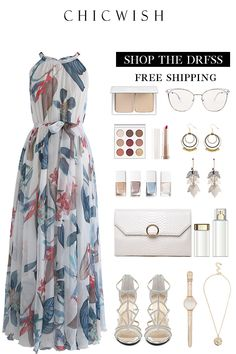Tropical Floral Watercolor Maxi Slip Dress – Outfit Inspiration & Ideas for All Occasions Fashion Mode, Teen Fashion Outfits, Mode Outfits, Classy Outfits, Stylish Outfits, Dress Outfits, Fashion Dresses, Womens Fashion, Woman Dresses
