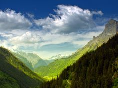 Somewhere in the Swiss alps in summertime.