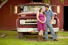 Country Maternity :: if we could do somethin like this but with Bobby's truck instead, so its more ours.