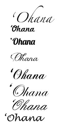 ohana tattoos designs | Tattoo Designs » Aysh-Banaysh.com ☀