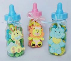 6 JUNGLE SAFARI party favor. Baby bottle by ForeverSweetfavors